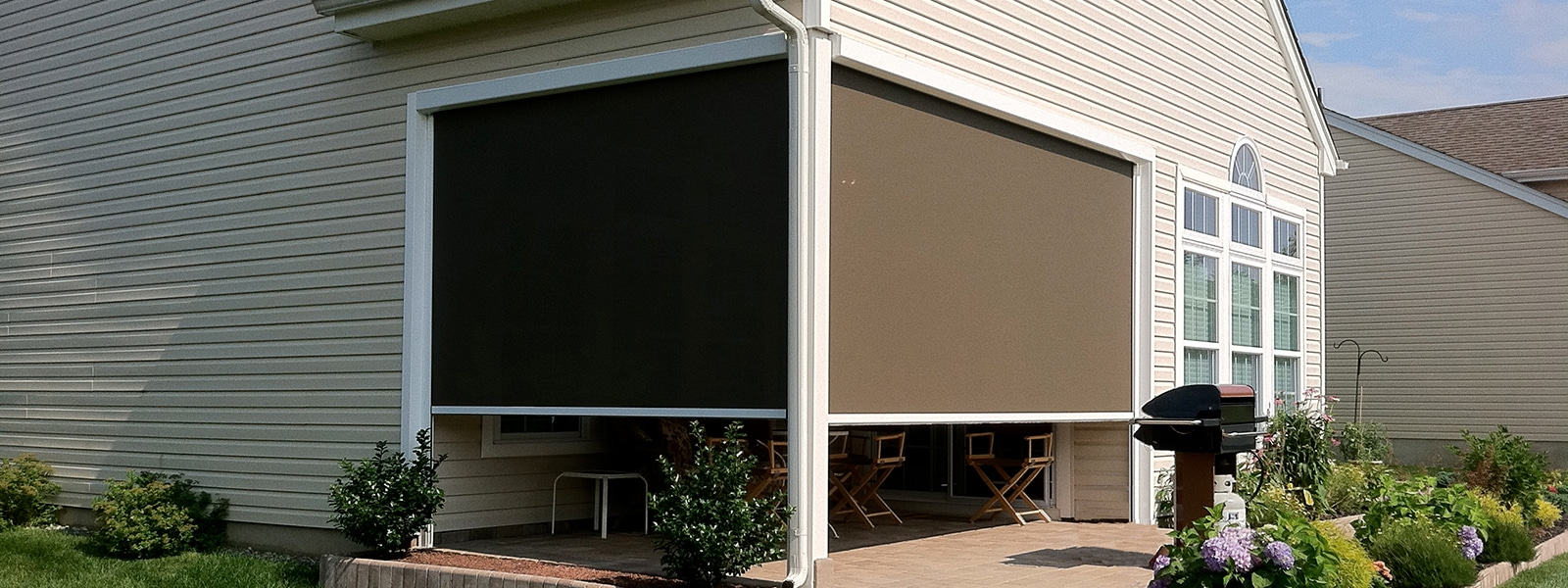 Exterior solar shades south carolina for Exterior window shade