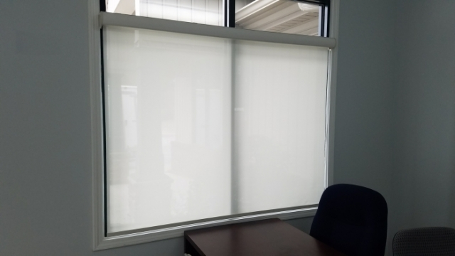 Coulisse Roller Shades On A Window